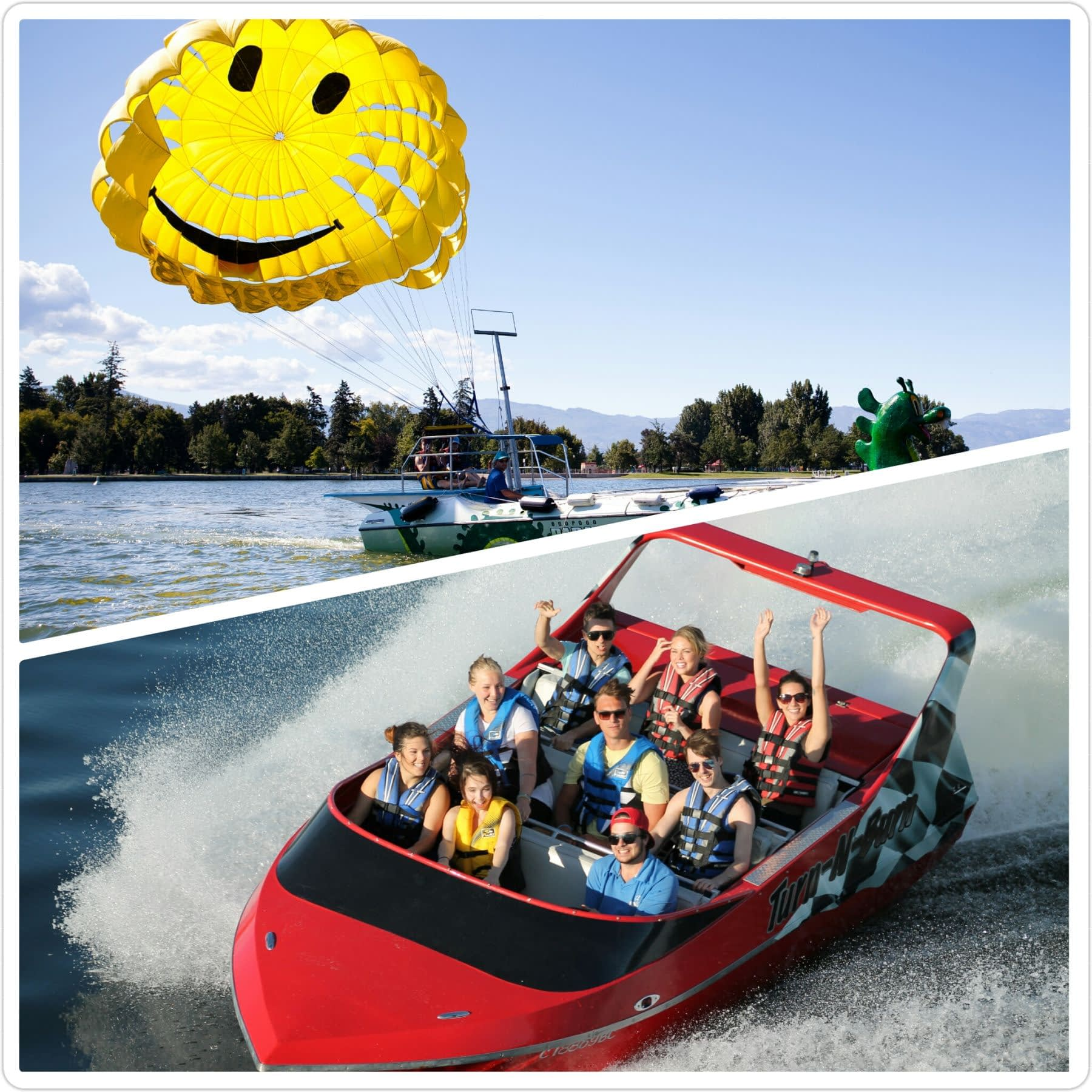 Kelowna Parasail & Jet Boat Adventure